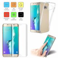 anti gores film & softcase silikon Samsung galaxy S6 edge plus