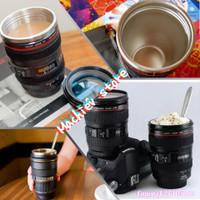 Gelas Unik Botol Air Minum Lensa Kamera / Termos Mug Lensa Canon