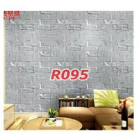 R95 Wallpaper Sticker Batu - wallpaper dinding