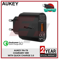 AUKEY PA-T9 TRAVEL WALL CHARGER FAST CHARGING QUICK CHARGE QC 3.0