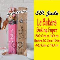 Le Bakers Baking Paper 30 Cm x 10 m / 40 Cm x 10 m Kertas Baking Roti