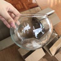 aquarium mini lucu bulat ikan hias kaca bubble bowl kapasitas 2
