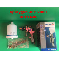 Spraygun JET2000S DEFYNIK / spray gun tabung atas / stainless steel