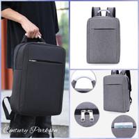 14 Ransel Laptop Ransel Import Ransel Murah Ransel Multifungsi R002# - Black