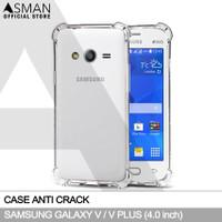 Anti Crack Samsung Galaxy V / V Plus | Softcase Anti Bentur - Clear