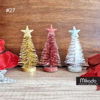 Pohon Natal Mini Glitter Dekorasi Meja / Mini Christmas Tree Decor