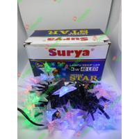 Surya Lampu natal tumblr LED 5M 3watt / lampu hias kedip bintang RGB