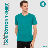 Kaos oblong polos cotton combed 30s - Regular Fit Pria Lengan Pendek
