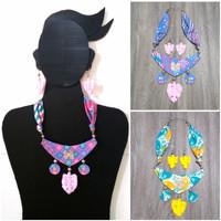 Kalung Batik Wanita Pitaloka & Anting