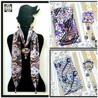 Kalung Batik Wanita Syal & Anting