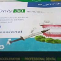 bahan bleaching dr whiten / teeth whitening / pemutih gigi + gum gingi