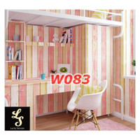 W83 Wallpaper Dinding Motif kayu - Wallpaper Sticker Motif Wood