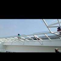 Pesanan Pak Adrian Kanopi Canopy, Partisi & Pintu Lipat Kaca Tempered