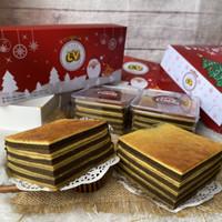 Kue lapis legit ginggang coklat 10x10cm