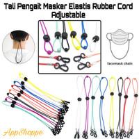 Tali Pengait Masker Elastis Rubber Cord Adjustable Colors 63cm
