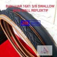 BAN LUAR SEPEDA 16 X 1 3/8 16 X 1 3 per 8 SWALLOW Deli tire