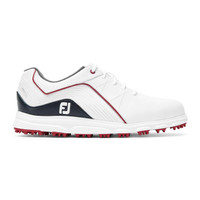 FootJoy FJ Junior Pro SL Spikeless Golf Shoes - White, Black and Red