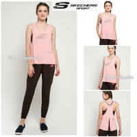Sk*chers Woman Sport Tanktop Baju Tank Top Olahraga Wanita Gym Yoga