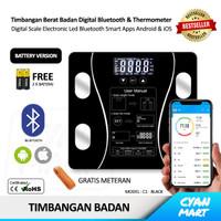 Timbangan Badan Digital Smart Scale Electronic Led Bluetooth Apps
