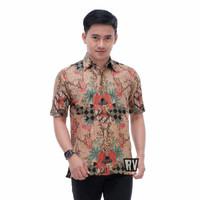 Rtn Kemeja Batik Pria Lengan Pendek Baju Kerja Kantor Murah Berkualita