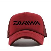 TOPi Trucker Jaring Hat Distro DAiWA mancing pancing ikan polos custom