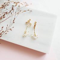 Aeron Clip Earrings Anting Jepit Klip Import ER06ARNG13