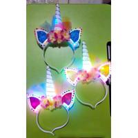 Unicorn Headband Nyala Lampu LED / Bando Unicorn Menyala