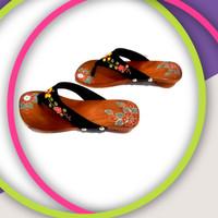 [ORIGINAL] Sandal Santai Wanita Kayu Natural/Sandal Japit Bakiak
