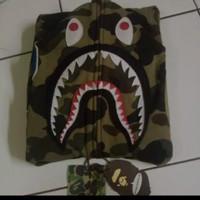 bape hoodie shark camo green WGM