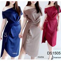 DS1505 - DRESS PESTA SABRINA MAXI BODYCON SCUBA DRESS kondangan WANITA