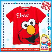 Baju anak laki-laki / Kaos anak laki-laki motif Elmo Red 1-10 thn - 3-4 tahun
