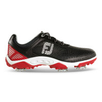 FootJoy FJ Junior Hyperfllex Spiked Golf Shoes - Red, White and Black