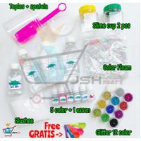 DIY Super Slime Kit Deluxe Edition - Bahan Membuat Slime Terlengkap