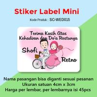Stiker (Custom) Label Souvenir Pernikahan Ucapan Terima Kasih