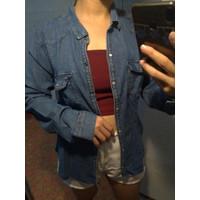 Preloved Kemeja Denim Jeans Wanita H&M