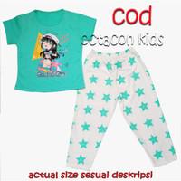 Setelan Baju Tidur Anak Perempuan size 4-14 tahun Sweet dream Termurah