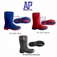 AP Boots 2001 Hijau Biru Merah Sepatu Boot Anak Sekolah Tanggung