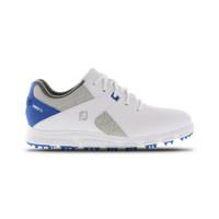 FootJoy FJ Junior Pro SL Spikeless Golf Shoe - White, Blue and Grey