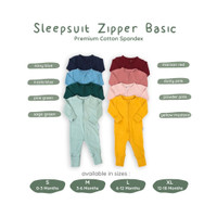 ARDENLEON Sleepsuit Basic Zipper SS.ZIP.02
