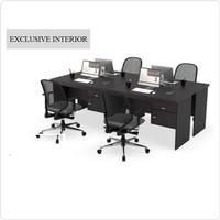 Meja kantor meja pegawai 4 orang panjang 100 good quality best price
