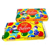 Balon tiup jadul JUMBO/Balon tiup gelembung/AAA/1 box isi 32 Pcs