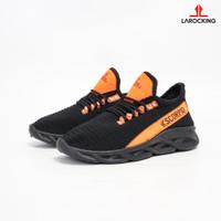 Larocking - Scorpio V1 Hitam   Sepatu Sneakers Running Gym Shoes - Hitam, 41