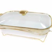 Food warmer rectanguler vizenza/penghangat makanan persegi/B760
