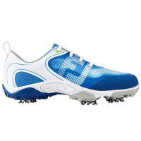 FootJoy FJ Junior Freestyle Spiked Golf Shoes - Blue, White and Grey