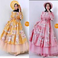 Baju Gamus Busui/ Longsdress Busui muslim / Dress Tutu Maxy Premium