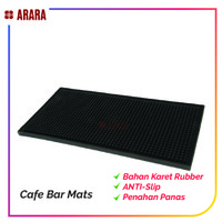 Rubber Bar Service Mat Silicone Dish Drying Mat Anti-Bacterial 45cm
