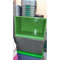 bak industri container keranjang plastik buntu bahan tebal