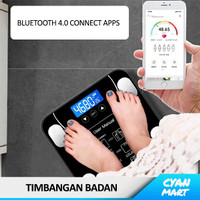 Timbangan Digital Berat Badan Smart Scale Bluetooth Apps Android iOS