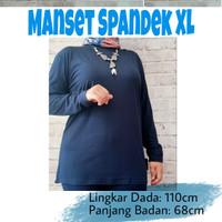 manset baju atasan spandek premium ukuran jumbo XL/XXL