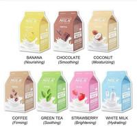 APIEU Milk One Pack Facial Mask Sheet Masker Wajah BPOM